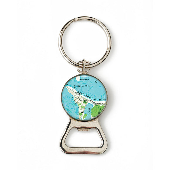 Martha's Vineyard Chappaquiddick Combination Bottle Opener with Key Ring