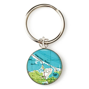 Martha's Vinyard Edgartown Anchor Key Ring