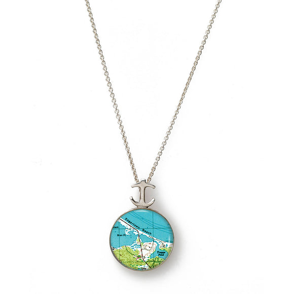 Martha's Vinyard Edgartown Small Anchor Pendant