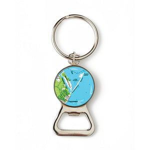 Mashpee Popponesset Combination Bottle Opener with Key Ring