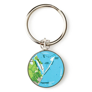 Mashpee Popponesset Anchor Key Ring