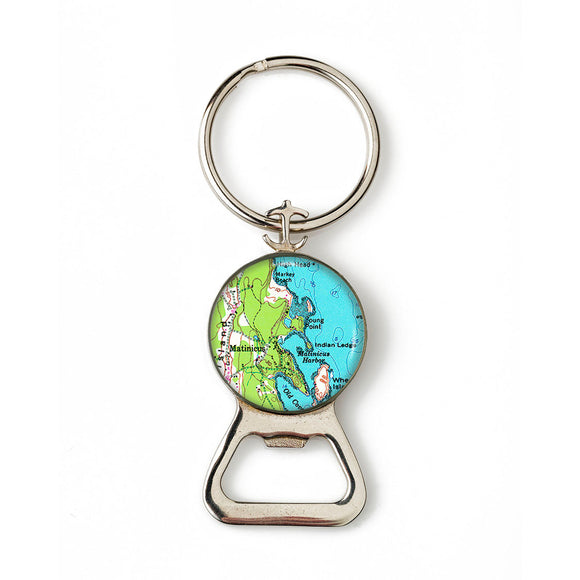 Matinicus Combination Bottle Opener with Key Ring