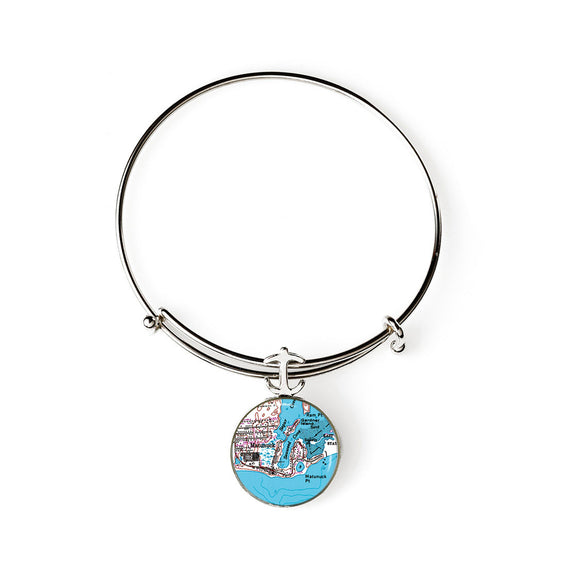 Matunuck Expandable Bracelet with Anchor Charm