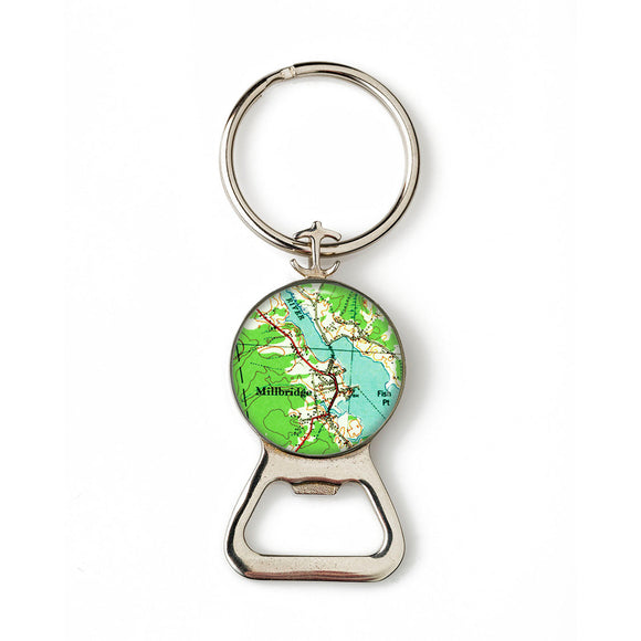 Millbridge Anchor Combination Bottle Opener with Key Ring
