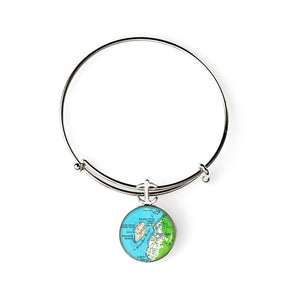 Monhegan Mana Island Expandable Bracelet with Anchor Charm