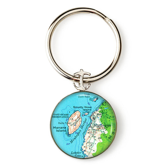 Monhegan Mana Island Key Ring