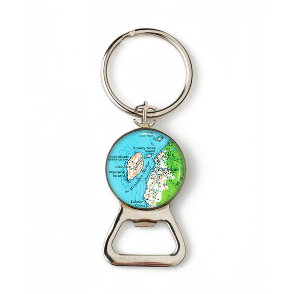 Monhegan Mana Island Combination Bottle Opener with Key Ring
