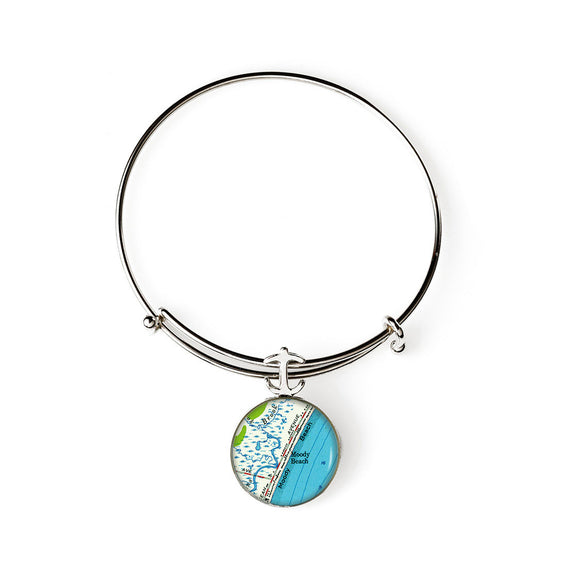 Moody Beach Anchor Expandable Bracelet with Anchor Charm