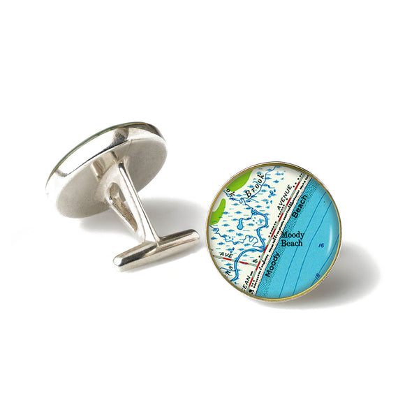 Moody Beach Anchor Cufflinks