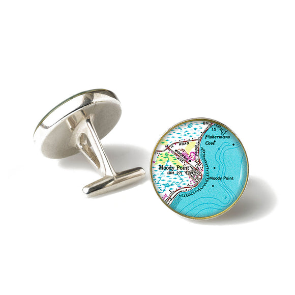 Moody Point Anchor Cufflinks