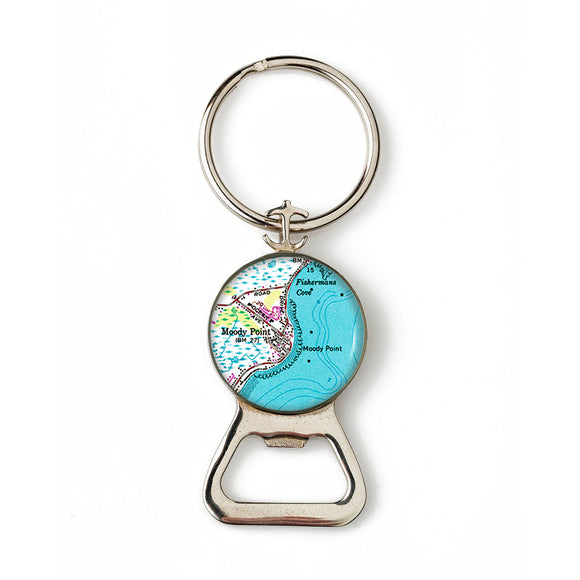Moody Point Combination Bottle Opener with Key Ring