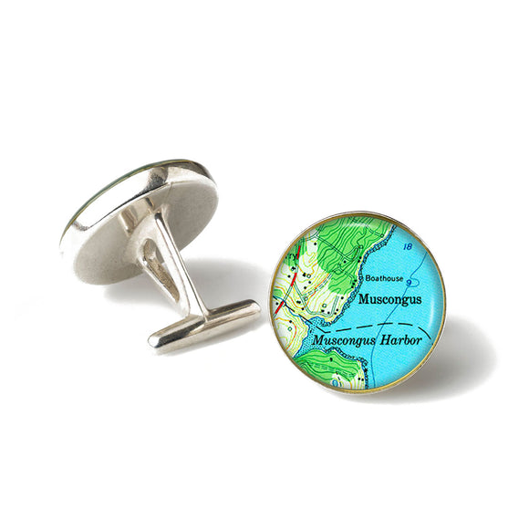 Muscongus Harbor Cufflinks