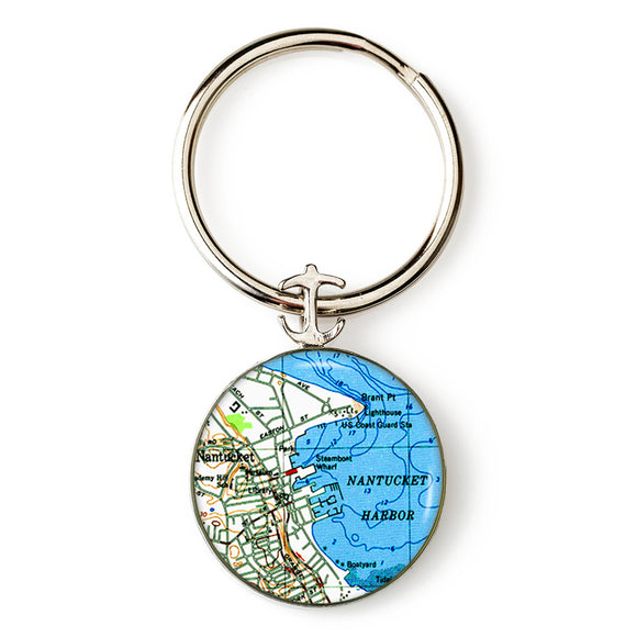 Nantucket 1 Anchor Key Ring