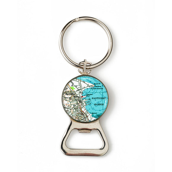 Nantucket 2 Combination Bottle Opener with Key Ring