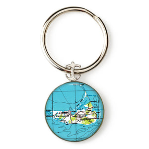 Nantucket Island Anchor Key Ring