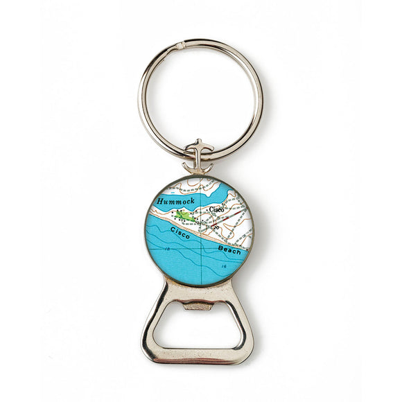 Nantucket Cisco Beach Combination Bottle Opener with Key Ring