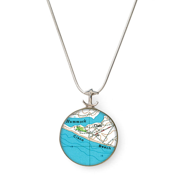 Nantucket Cisco Beach Large Anchor Pendant