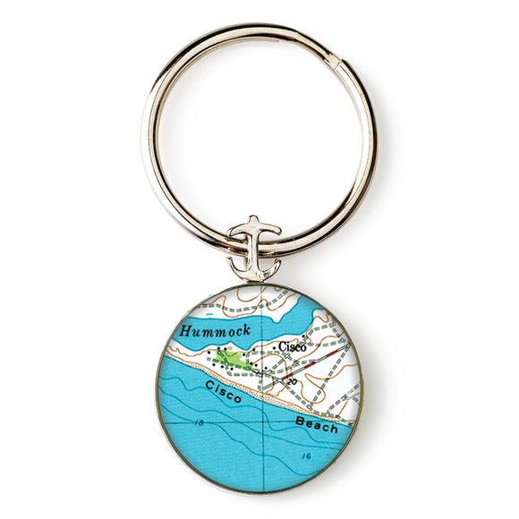 Nantucket Cisco Beach Anchor Key Ring