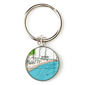 Nantucket Surfside Anchor Key Ring