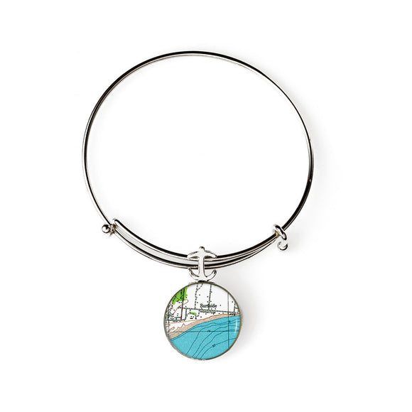 Nantucket Surfside Expandable Bracelet with Anchor Charm