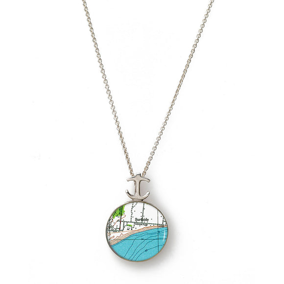 Nantucket Surfside Small Anchor Pendant