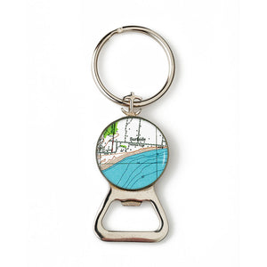 Nantucket Surfside Combination Bottle Opener with Key Ring