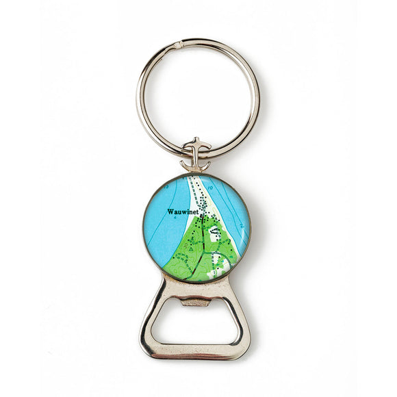 Nantucket Wauwinet Combination Bottle Opener with Key Ring