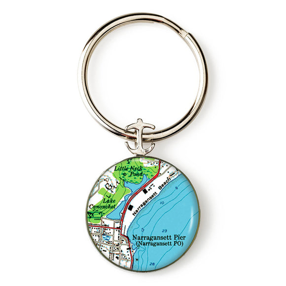 Narragansett Pier Anchor Key Ring