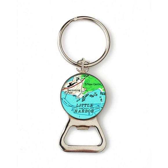 New Castle Little Harbor Anchor Combination Bottle Opener with Key Ring