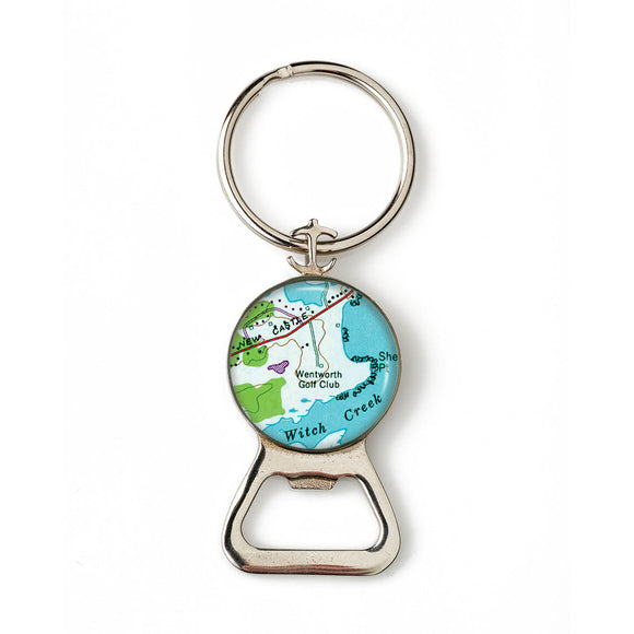 New Castle Wentworth Golf Club Anchor Combination Bottle Opener with Key Ring
