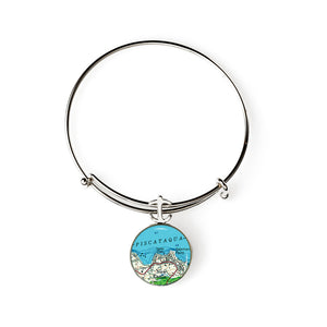 New Castle Yacht Club Expandable Bracelet with Anchor Charm