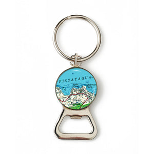 New Castle Yacht Club Anchor Combination Bottle Opener with Key Ring