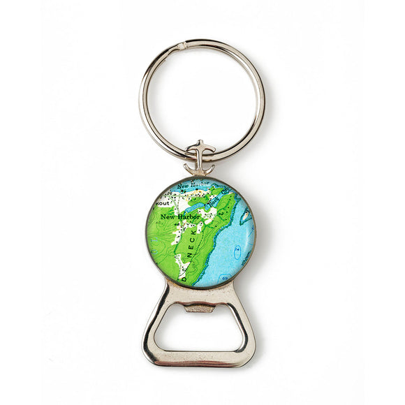 New Harbor Combination Bottle Opener with Key Ring