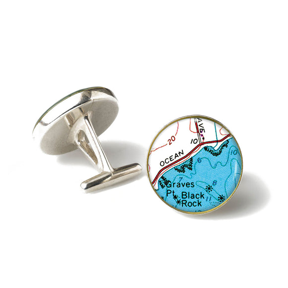 Newport Black Rock Cufflinks