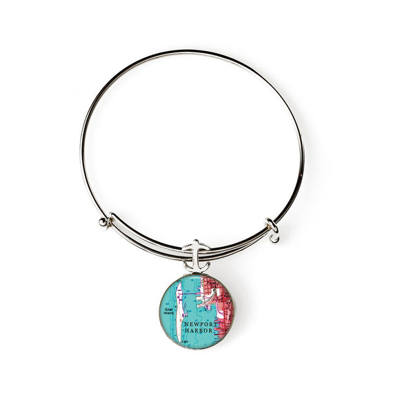 Newport Goat Island Expandable Bracelet with Anchor Charm