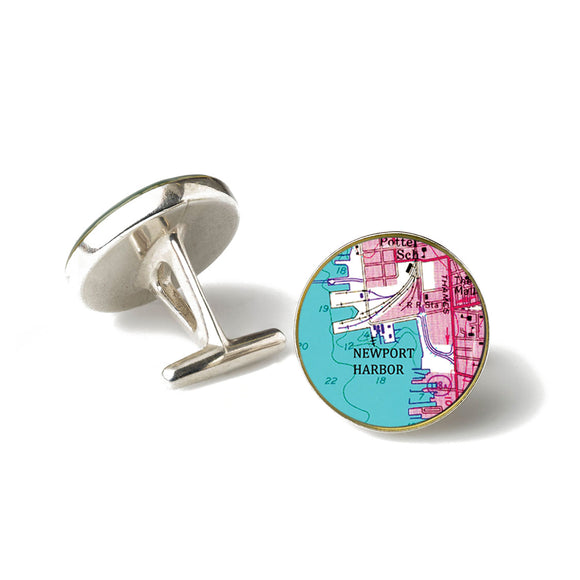 Newport Harbor Pink Cufflinks