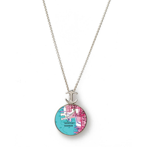Newport Harbor Pink Small Anchor Pendant