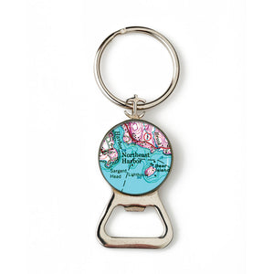 Northeast Harbor Pink Anchor Combination Bottle Opener with Key Ring