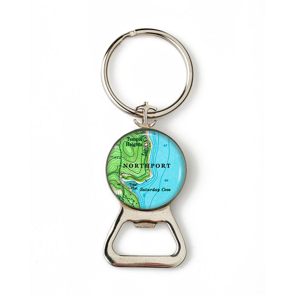 Northport Saturday Cove Combination Bottle Opener with Key Ring