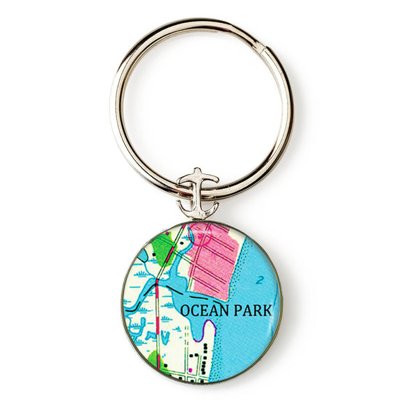 Ocean Park Anchor Key Ring