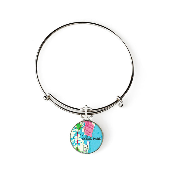 Ocean Park Anchor Expandable Bracelet with Anchor Charm