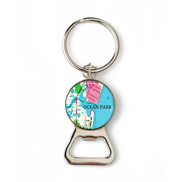 Ocean Park Combination Bottle Opener with Key Ring