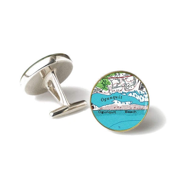 Ogunquit Beach 1 Anchor Cufflinks