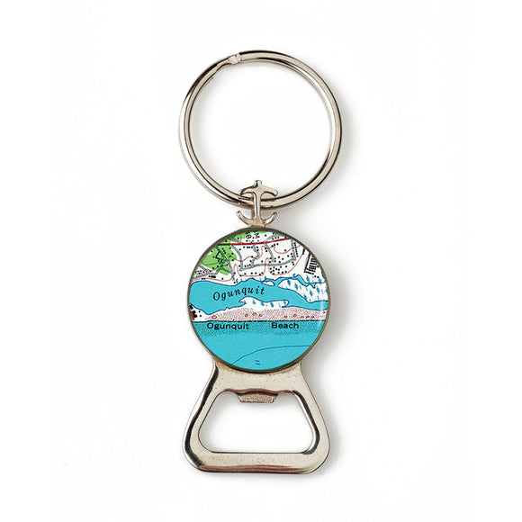 Ogunquit Beach 1 Combination Bottle Opener with Key Ring