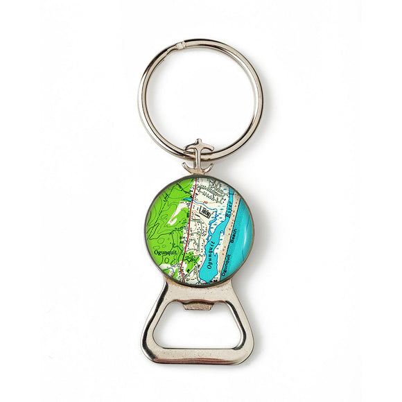 Ogunquit Beach 2 Combination Bottle Opener with Key Ring