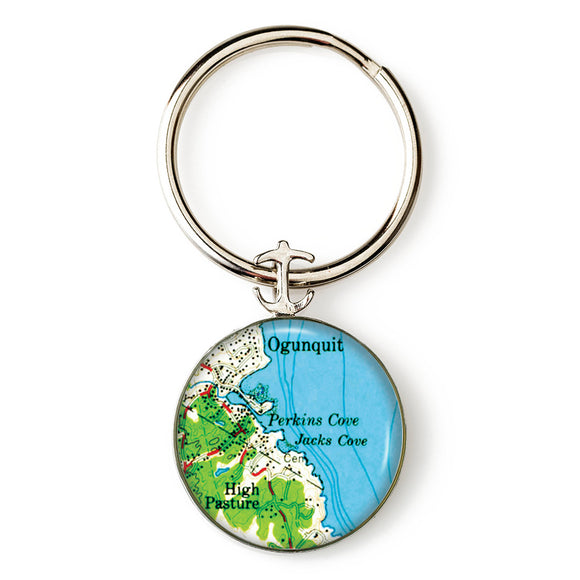 Ogunquit Perkins Cove Anchor Key Ring