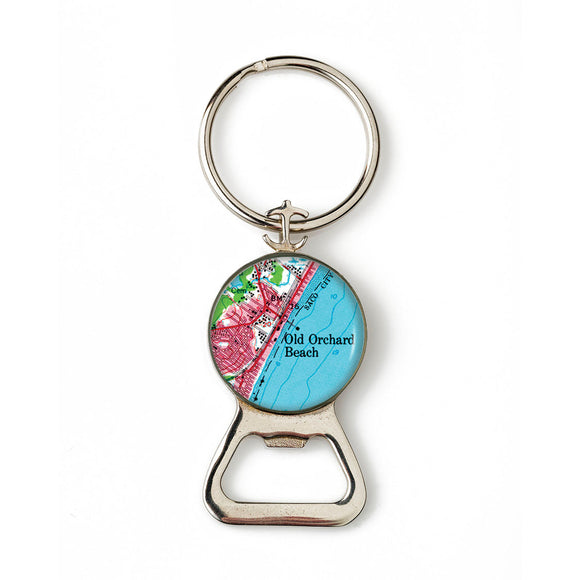Old Orchard Beach 2 Combination Bottle Opener with Key Ring