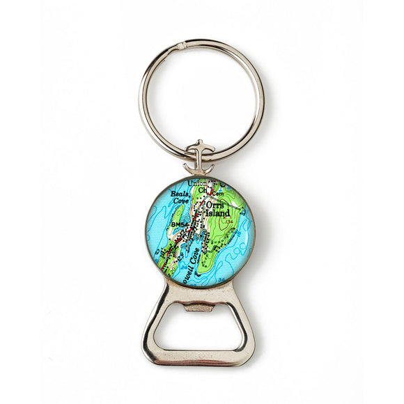 Orrs Island Combination Bottle Opener with Key Ring