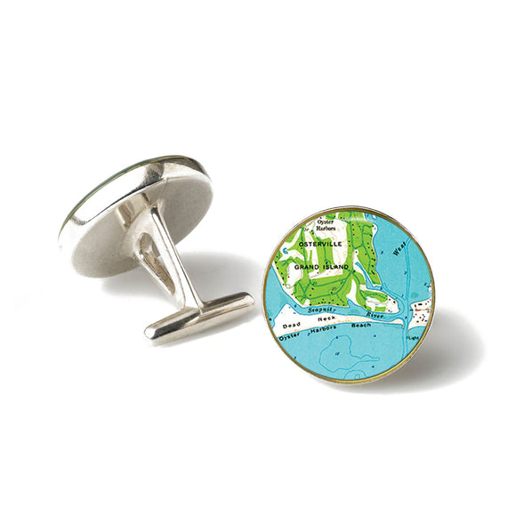 Osterville Harbor Beach Cufflinks