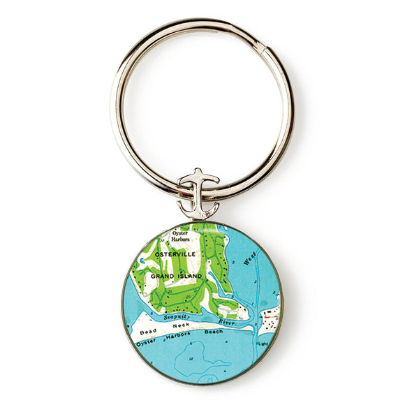 Osterville Harbor Beach Anchor Key Ring